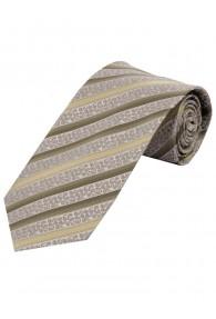 Krawatte florales Muster Streifen creme
