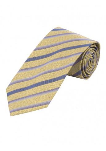 Krawatte florales Muster Streifen messing und flieder