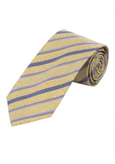 Krawatte florales Muster Streifen messing und