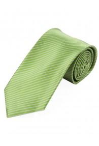 Krawatte dünne Streifen grün schneeweiß