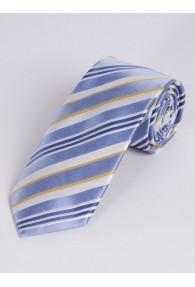 Krawatte raffiniertes Streifen-Dessin hellblau...