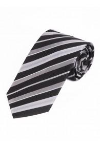 Stylische Krawatte gestreift asphaltschwarz