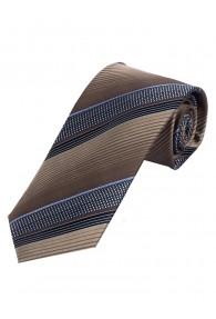 Auffallende Krawatte streifig dunkelbraun hellblau