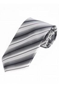 Modische Krawatte gestreift nachtschwarz...