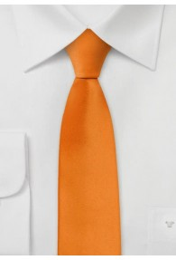 Schmale Krawatte helles orange