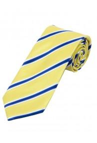 Stylische Krawatte gestreift gelb schneeweiß blau
