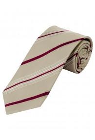 Modische Krawatte gestreift sandfarben bordeaux