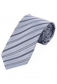 Auffallende Krawatte streifig hellgrau