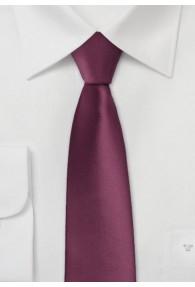 Schmale Krawatte dunkles bordeaux