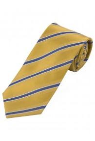 Krawatte stylisches Streifenmuster  goldgelb...