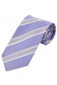 Krawatte stylisches Streifendesign  flieder hellgrau perlweiß