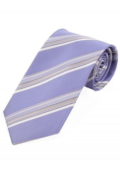 Krawatte stylisches Streifendesign  flieder
