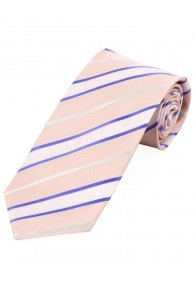 Krawatte stylisches Streifendessin  rosa weiß lila
