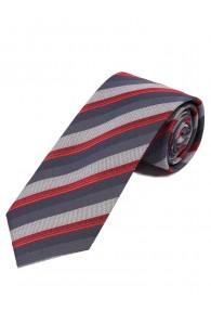 Krawatte stylisches Streifendesign  hellgrau