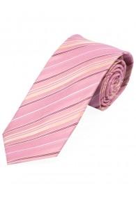 Krawatte topmodisches Streifenmuster  rosa, weiß