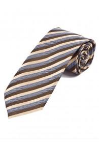 Krawatte stylisches Streifendesign  champagner