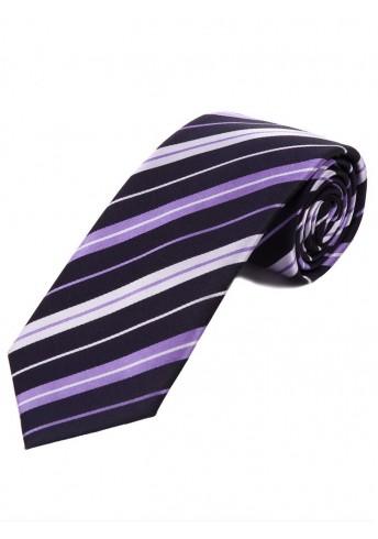 Optimale Krawatte Streifendesign nachtblau lila schneeweiß