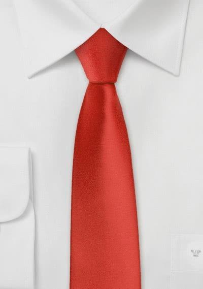 Krawatte schmal hellrot