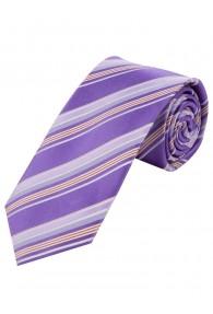 Optimale Businesskrawatte Streifendessin violett