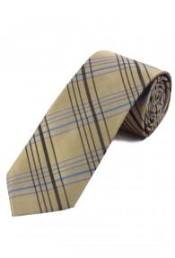 Krawatte elegantes Linienkaro sandfarben...