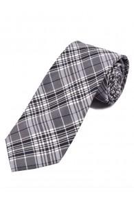 Karo-Design-Businesskrawatte schwarz weiß