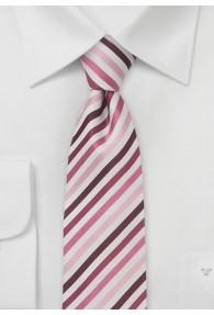 SchmaleKrawatte gestreift pink