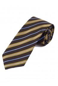 Krawatte stilvolles Streifen-Dekor mittelbraun himmelblau perlweiß