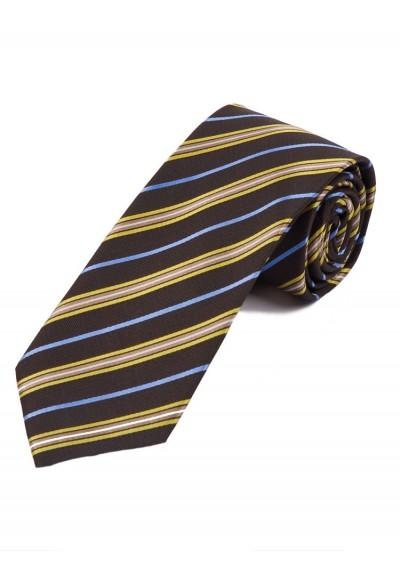 Krawatte stilvolles Streifen-Dekor mittelbraun