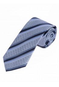 Businesskrawatte Struktur-Dekor Linien eisblau dunkelblau