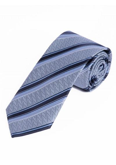 Businesskrawatte Struktur-Dekor Linien eisblau