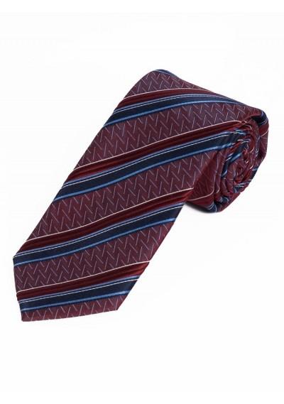 Krawatte Struktur-Pattern Linien bordeauxrot