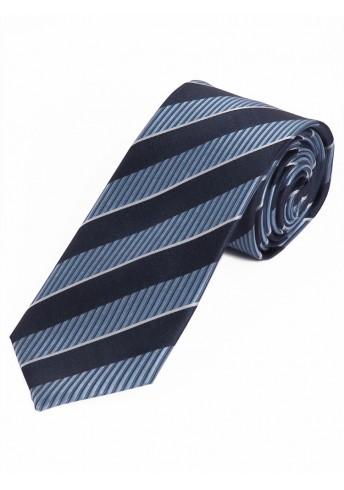Herrenkrawatte Struktur-Dessin Linien eisblau dunkelblau