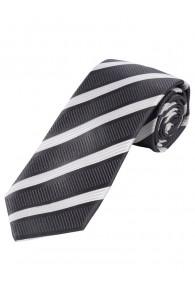 Krawatte Struktur-Pattern Streifen anthrazit