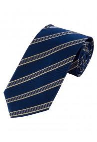 Krawatte Struktur-Muster Streifen navy champagner