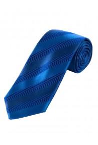 Herrenkrawatte Struktur-Dessin Streifen cyanblau