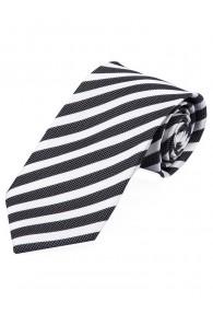Krawatte Struktur-Pattern Streifen tiefschwarz