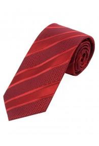 Krawatte Struktur-Dekor Streifen rot rubin