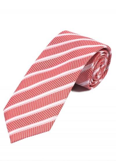 Businesskrawatte Struktur-Muster Streifen rot weiß