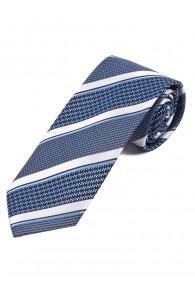 Krawatte Struktur-Dekor Streifen dunkelblau