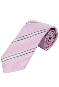 Businesskrawatte Struktur-Dessin Streifen rose