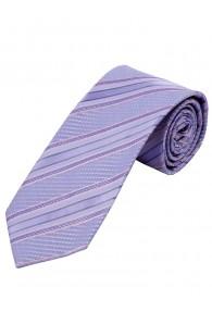 Krawatte Struktur-Dekor Linien blasslila rose