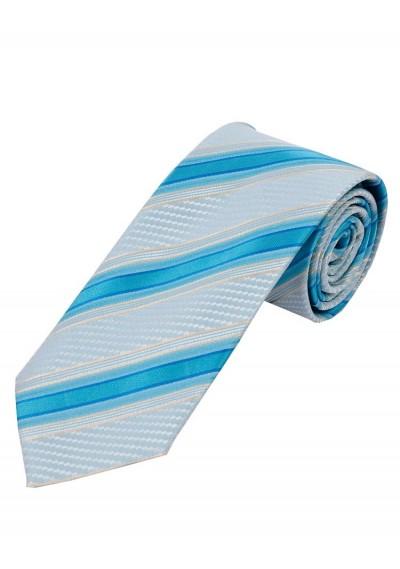 Krawatte Struktur-Muster Linien taubenblau azur