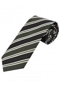 Krawatte Struktur-Pattern Streifen olivgrün