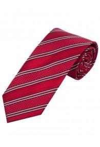 Krawatte Struktur-Muster Streifen rot schneeweiß