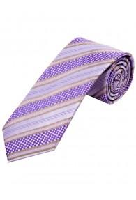 Krawatte Struktur-Pattern Linien blasslila beige