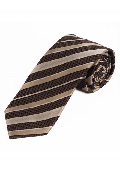 Schmale Krawatte Struktur-Dekor Streifen