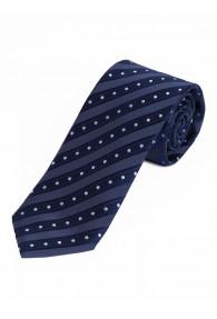 Krawatte Streifen Tupfen marineblau