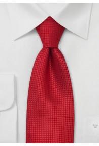 Clip-Krawatte Quader rot