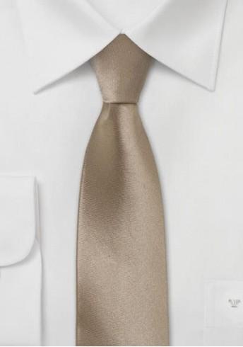 Schmale Krawatte modisches Cappuccino-Braun