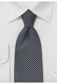 Krawatte Raster-Design tiefschwarz